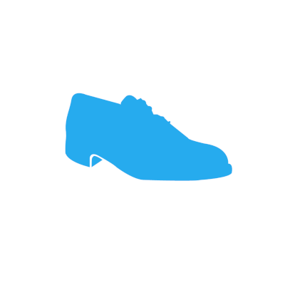 Picture of johnsortho.com logo - silhouette of a dress shoe encapsulated in a circle